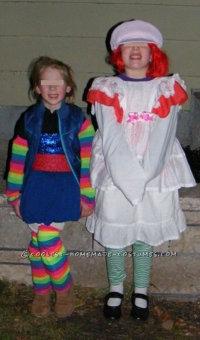 Flashback to Childhood 80's: Rainbow Brite & Strawberry Shortcake My two girls were my childhood dolls for Hallowe'en last year. The