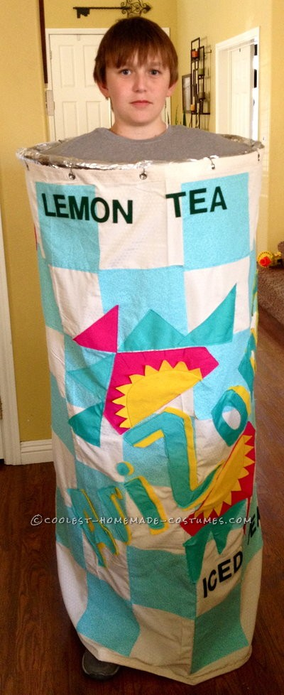 For his love of Arizona Iced Tea, my 12-year old son decides he'd like to be just that for Halloween!  So, my creative wheels started turning a