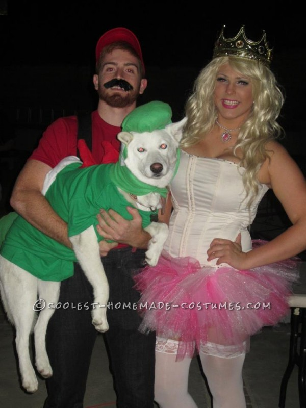 Fun Mario, Peach, and Yoshi Family Costume