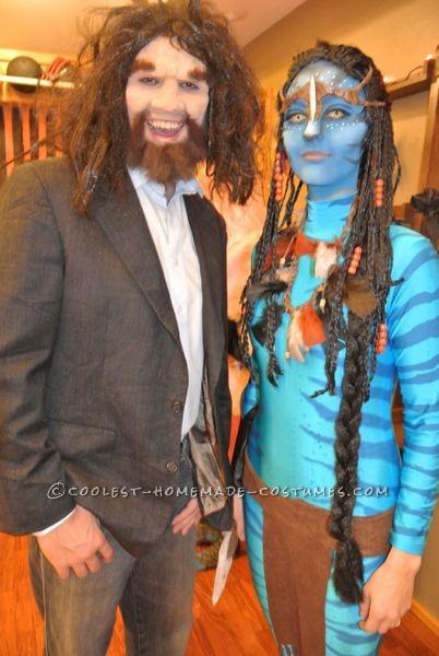 Geico caveman and Neytiri