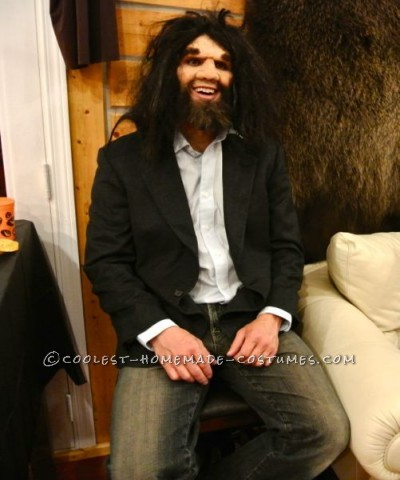 My husband and I created the geico caveman using a prosthetic from www.mostlydead.com and applied it using spirit gum and liquid latex.  That we