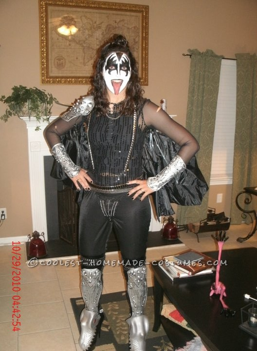 Coolest Lady Gene Simmons on the Fly Halloween Costume