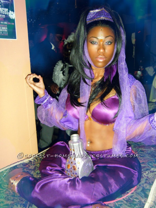 Creative Homemade Genie on a Flying Carpet Halloween Costume