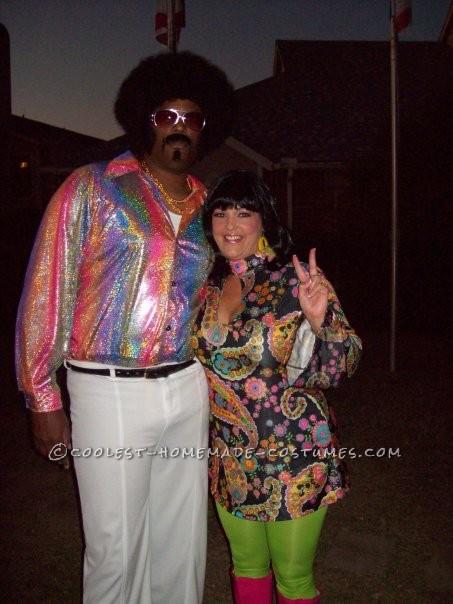 Groovy Homemade 70s Couple Costume