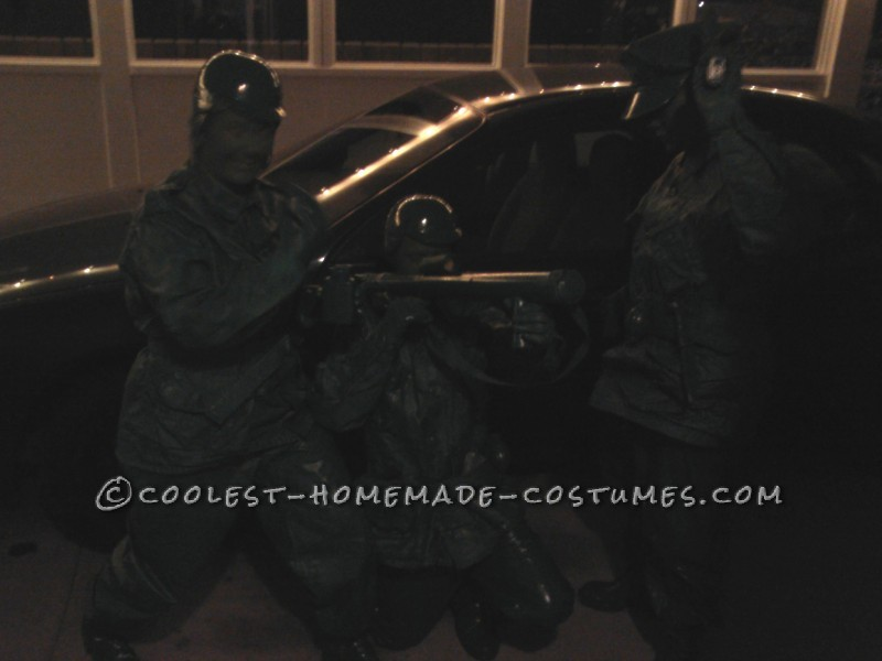 Great Group Halloween Costume: Green Toy Soldiers - 3