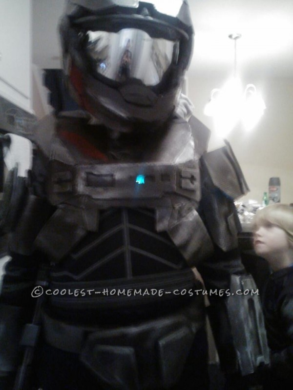 Epic Homemade Halo Reach Spartan Costume - 2