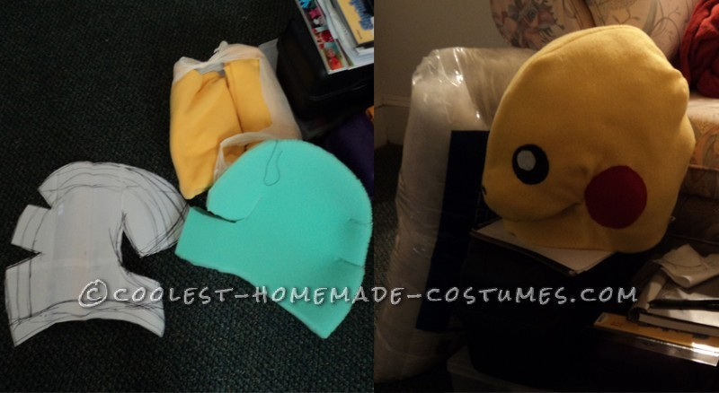 Hand-stitched Pikachu Costume