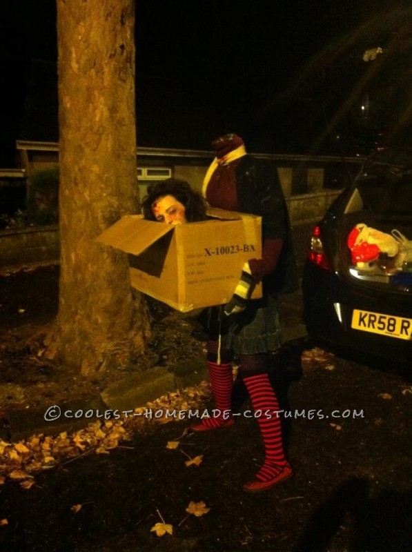 Awesome DIY Costume: Headless Woman Carrying Her Head in a Box - 1