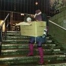 Awesome DIY Costume: Headless Woman Carrying Her Head in a Box