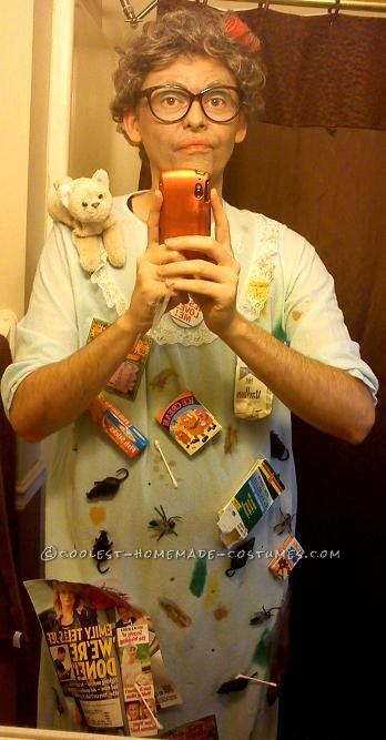 Easy Homemade Halloween Costume: Helda the Hoarder - 1