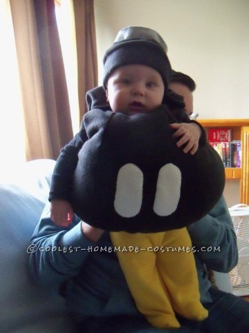 Every once in awhile my husband and I refer to my little destructive infant son Henry as H-Bomb, so it was quite fitting for us to choose a Bob-Omb f