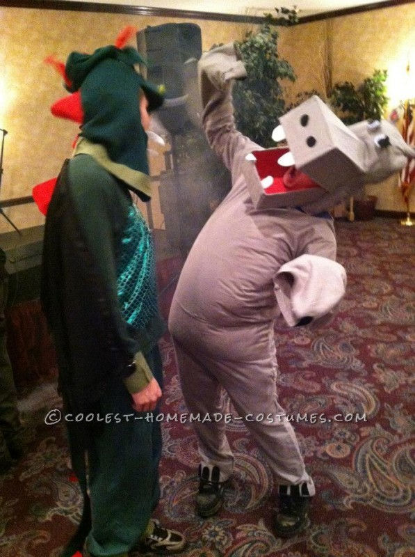 Hippo (and my dragon costume I made for my boyfriend!)