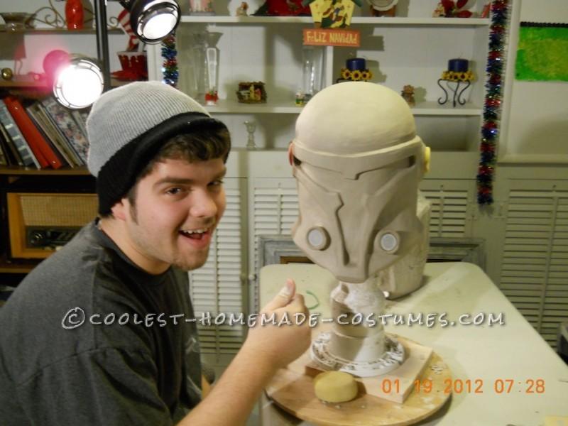 Finished sculpture of helmet