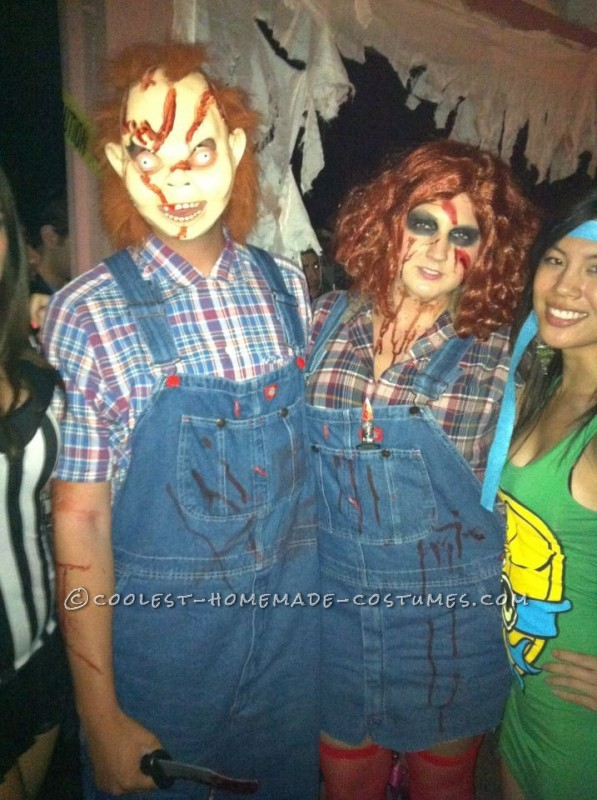 Homemade Chucky and Chucky's Sister Couple Costume - 1