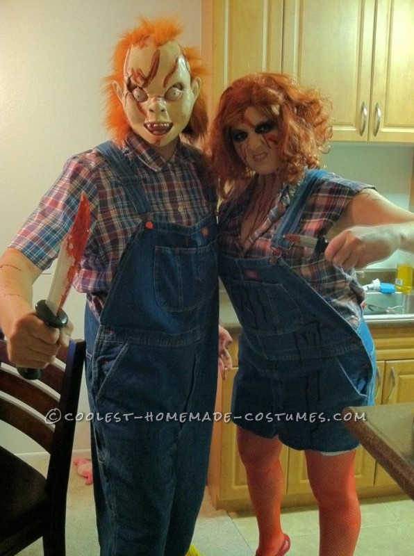 Homemade Chucky and Chucky's Sister Couple Costume