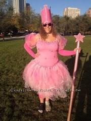 Super Sparkly Homemade Glinda Costume