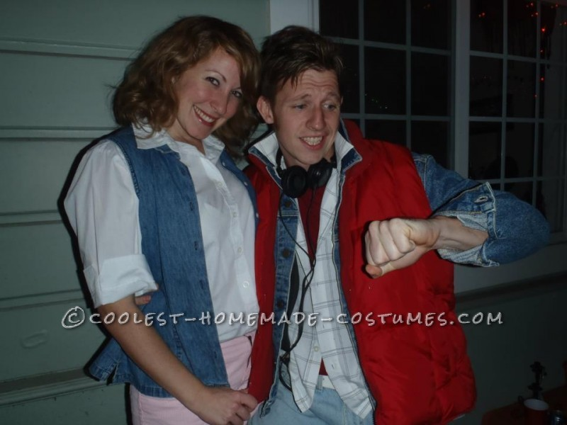 My boyfriend and I loved Back to the Future, so we decided we wanted to be Marty McFly and Jennifer Parker, but we did not own anything that worked.