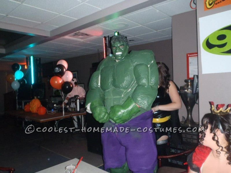 Looking bulky at the party.