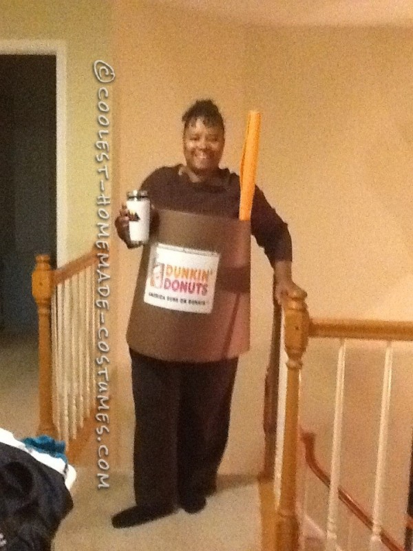 Last-Minute Ice Coffee Cup Costume: I am what I Drink - 1