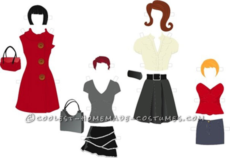 Awesome Inter-Changeable Paper Doll Costume - 3
