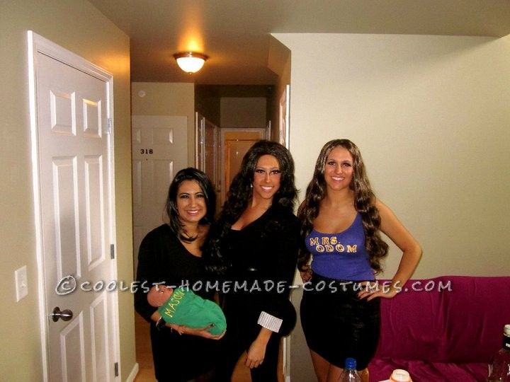 My two friends and I love the Kardashians and decided to dress as them for Ohio University\'s HallOUween Weekend 2010. I went as Khloe, and bought