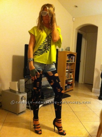 So I wanted to be Lady Gaga, but I changed my mind last minute right before I went to a party and decided to be Ke$ha! All you need is a weird shirt,