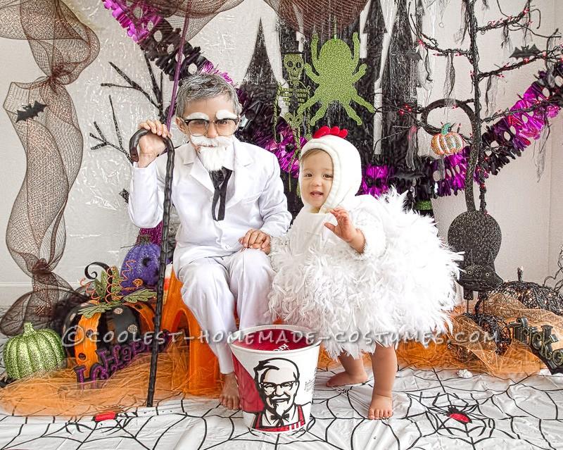 Cool KFC Col. Sanders Homemade Halloween Costume - 2