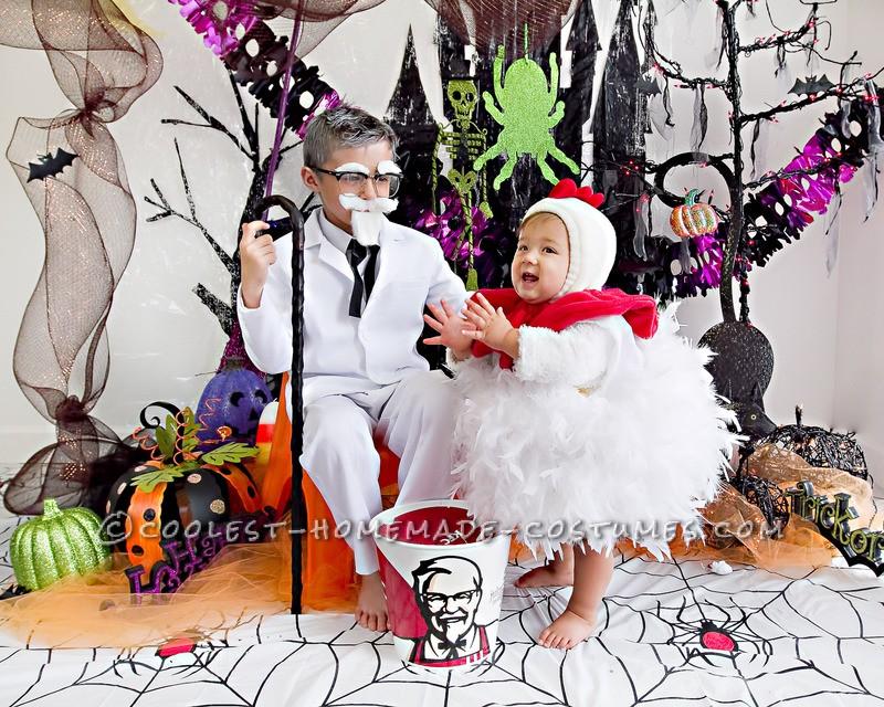 Cool KFC Col. Sanders Homemade Halloween Costume - 1