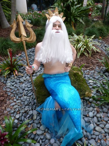 Coolest Homemade Halloween Costume Idea: King Triton, the Ruler of Atlantica