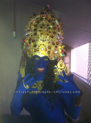 I am a huge Halloween aficionado and I could not let my audience down because they expect nothing but the BEST from me.. My Lady Kali costume was a 3