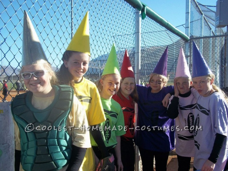 This was half homemade. Our 12 and 13 year old LUNATICS softball teamplayed a Halloween tournament dressed as