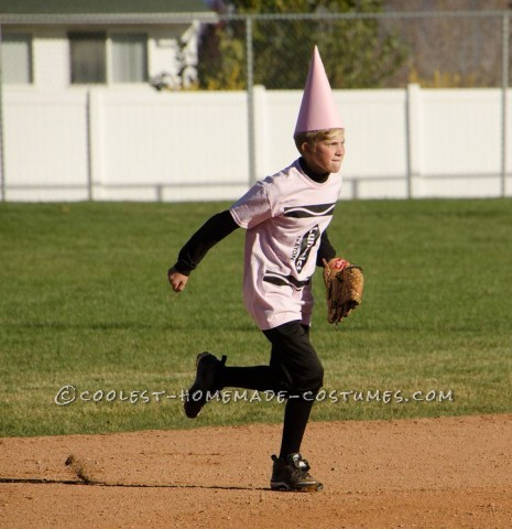 "This was half homemade.  Our 12 and 13 year old LUNATICS softball team played a Halloween tournament dressed as ""Lunatics"" brand crayons."