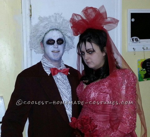 It was four days before our second annual Halloween party and we still had no great ideas for costumes! I was flipping through the t.v and Beetlejuic