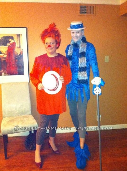 Coolest Last-Minute Heat Miser and Snow Miser Couple Costumes