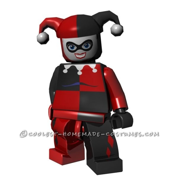 Coolest Girl's Harley Quinn Costume Minifigure Style - 1