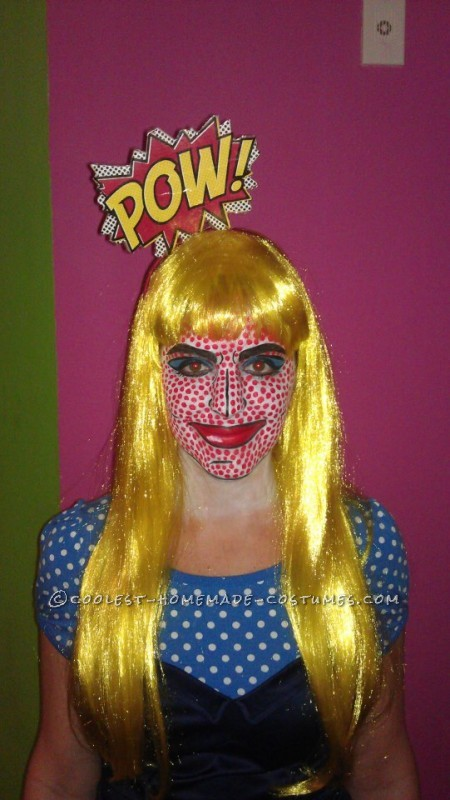 Cool Homemade Lichtenstein Girl Pop Art Costume