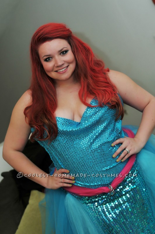 Awesome Little Mermaid Group Costume with Thrift Store Finds - 3