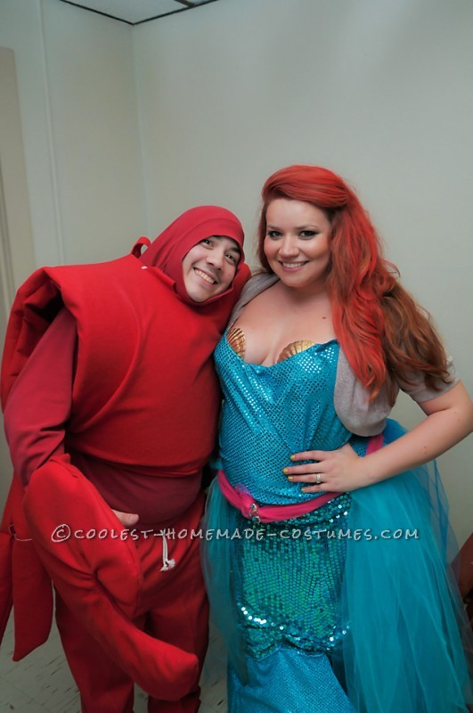 Awesome Little Mermaid Group Costume with Thrift Store Finds - 2