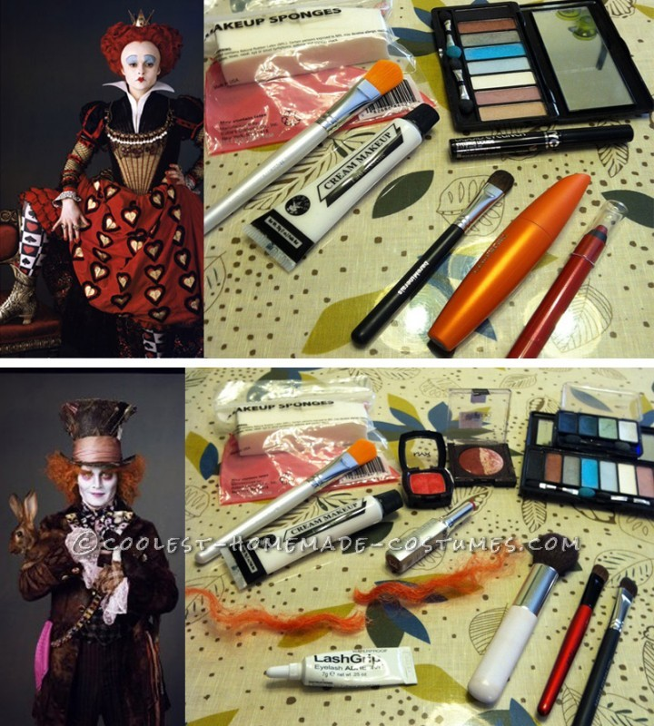 Red Queen and Mad Hatter Inspiration and Makeup