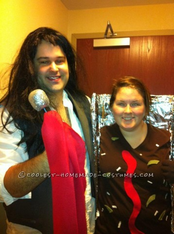 My boyfriend and I dressed as Meatloaf and meatload last year for Halloween. He was Meatloaf the music artist and wore a basic suit jacket that he cu