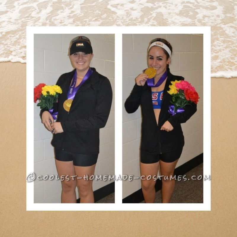 Original Homemade Olympics Couples Costume: Misty May and Kerri Walsh Take the Gold - 1