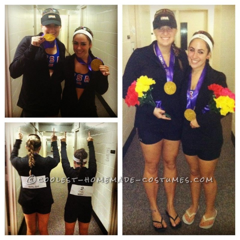 So me and my friend love Misty May and Kerri Walsh and we just happened to be the perfect height and hair color to pull off the costume ! We ma