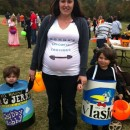With this being the last time I would be pregnant at Halloween, I wanted to take advantage of my growing Belly & encorporate it into the costume