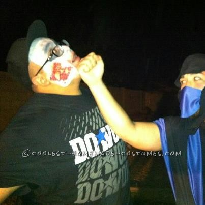 My boyfriend and I LOVE Mortal Kombat so it was easy to decide what to be for Halloween. Sub Zero was easy despite the fact that I had to sew it by h