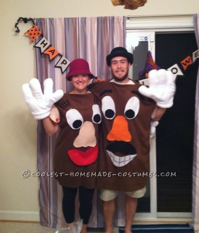 My boyfriend and I decided to make Mr and Mrs Potato Head costumes after seeing some great ideas on this site and loving the characters from the Toy