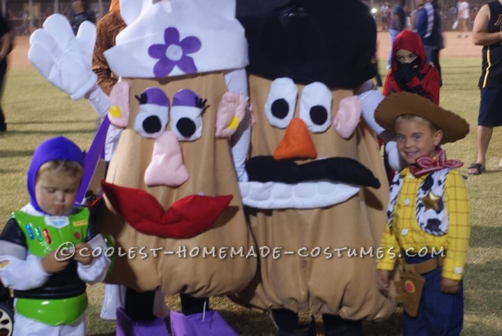 Cool Mr. and Mrs. Potato Head Costumes with Movable Parts