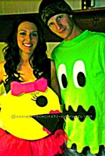 I wanted something creative and easy for a Halloween costume... But also something NO ONE ELSE would have. I loved pacman as a kid and thought to mys