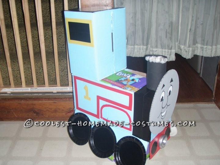 My Boys in Thomas and James Trains Homemade Halloween Costumes - 7