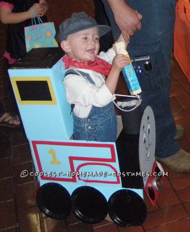 My Boys in Thomas and James Trains Homemade Halloween Costumes - 4