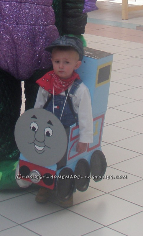 My Boys in Thomas and James Trains Homemade Halloween Costumes - 3